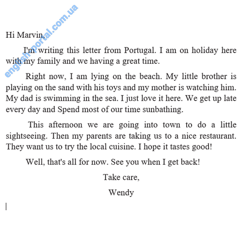 Download Letter To Friend About Travelling Holiday Informal Letter English Portal